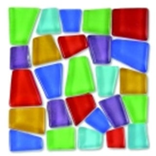 0.75 - 0.37 in. Glass Crafters Cut Irregular Mosaic Tile, 5 Lbs.