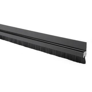 40-inch x 0.4-inch Aluminum Alloy Base Door Bottom Sweep Nylon Brush Insert Seal