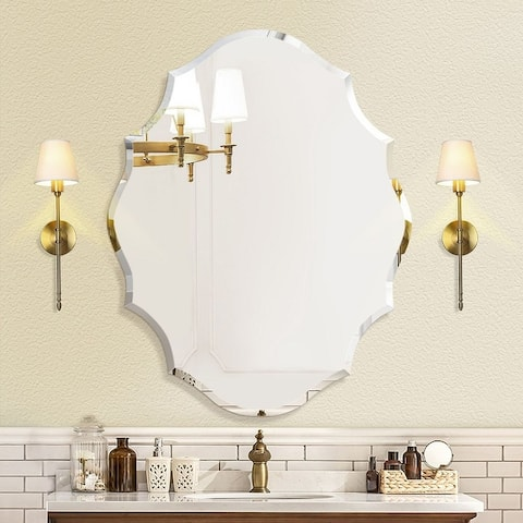 Mirror Trend Beveled Accent Frameless Wall Mirror