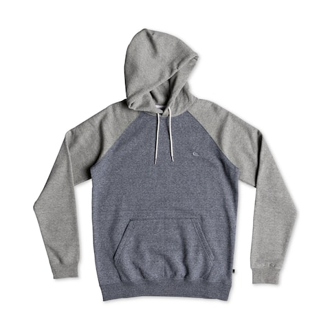Quiksilver Men's Hoodie Blue Gray Size XL Colorblocked Drawstring