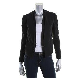 TopShop Womens Long Sleeves Open Front Collarless Blazer - 4