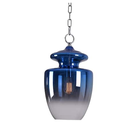 Baden Blue Ombre with Chrome 1 Light Pendant