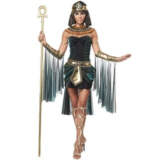 California Costumes Egyptian Goddess Adult Costume - Black/Green