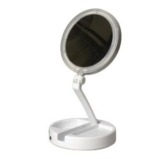 Floxite 7504-12L 12x-1x LED Lighted Travel & Home Mirror