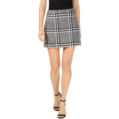 Rachel Zoe Womens Wool Mini Skirt, Black, 10