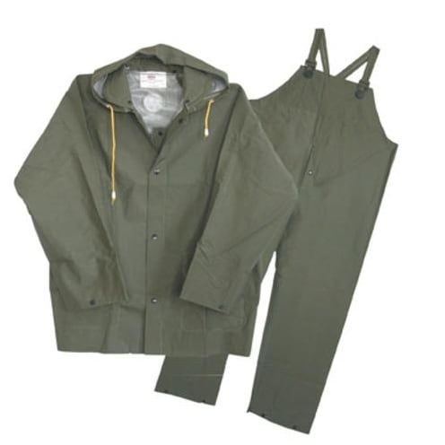 Boss 3PR0300GM Three Piece Rain Suit, 35 Mil, Green
