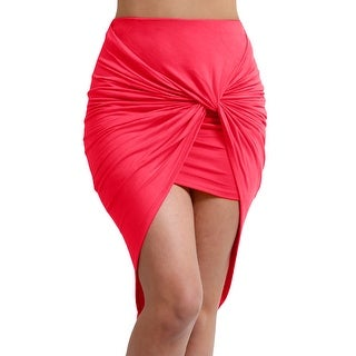 NE PEOPLE Women's bodycon shirred side skirt [NEWSK23]
