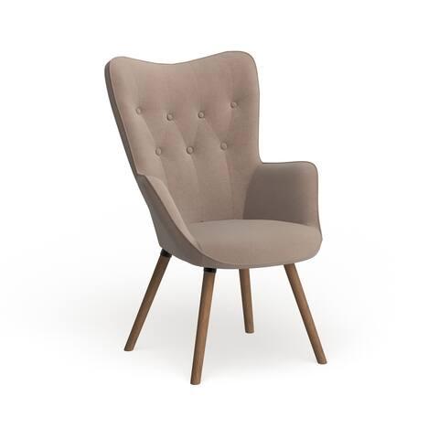 Carson Carrington Arvika Button Tufted High Back Velvet Accent Chair