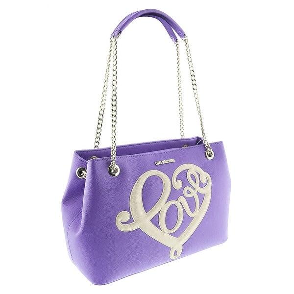 Moschino JC4255 0650 Violet Satchel/Shoulder Bag - 11-9.5-4.5