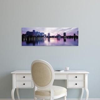 Easy Art Prints Panoramic Images's 'Lake Eola In Orlando, Orlando, Florida, USA' Premium Canvas Art