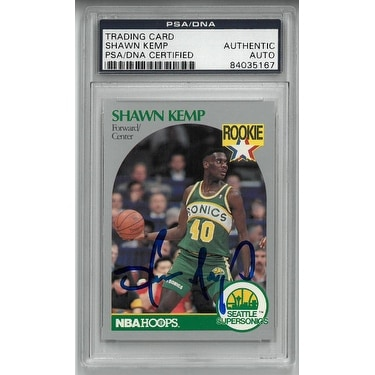378b89aa309 Shop Shawn Kemp signed 199091 Seattle SuperSonics NBA Hoops RC Trading Card  279 PSA 84035167 - Free Shipping Today - Overstock - 19871291