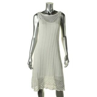 Lauren Ralph Lauren Womens Casual Dress Crochet Lined - S