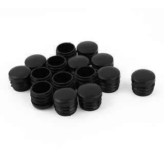 "Unique Bargains 15 x Black 25mm 1"" Plastic Blanking End Caps Inserts Plug Bung Round Tube Insert"