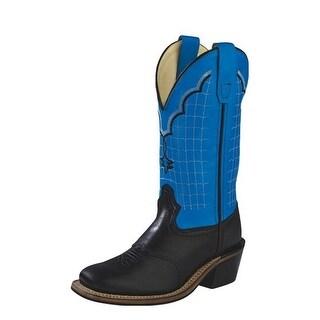 Old West Cowboy Boots Boys Girls Kids Goodyear Black Blue