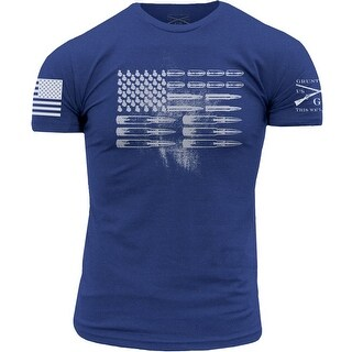 Grunt Style Ammo Flag T-Shirt - Royal Blue