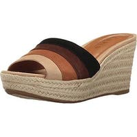LAUREN by Ralph Lauren Womens Karlia Leather Open Toe Casual Platform Sandals
