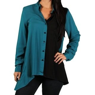 Zac & Rachel Misses Shark Bottom Color-Block Blouse