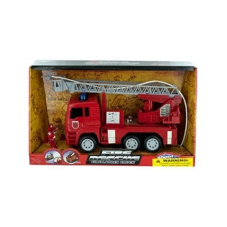 Daily Basic Kids Indoor and Outdoor Play Realistic Fire Rescue Truck with Water Hose