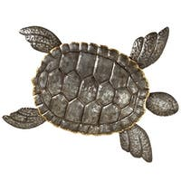 Pack of 2 Dark Gray and Pale Brown Decorative Large Turtle Wall Decor 31""
