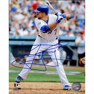Signed Loney James Los Angeles Dodgers 8x10 Photo Light Smudge of the signature autographed