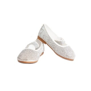 Satin Rhinestone Ballerina Kid Shoe (Option: 8)