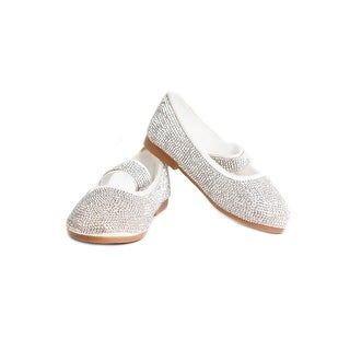 Satin Rhinestone Ballerina Kid Shoe