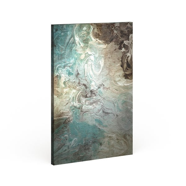 Strick & Bolton 'Aqua Marble' Premium Giclee Gallery Wrapped Canvas. Opens flyout.