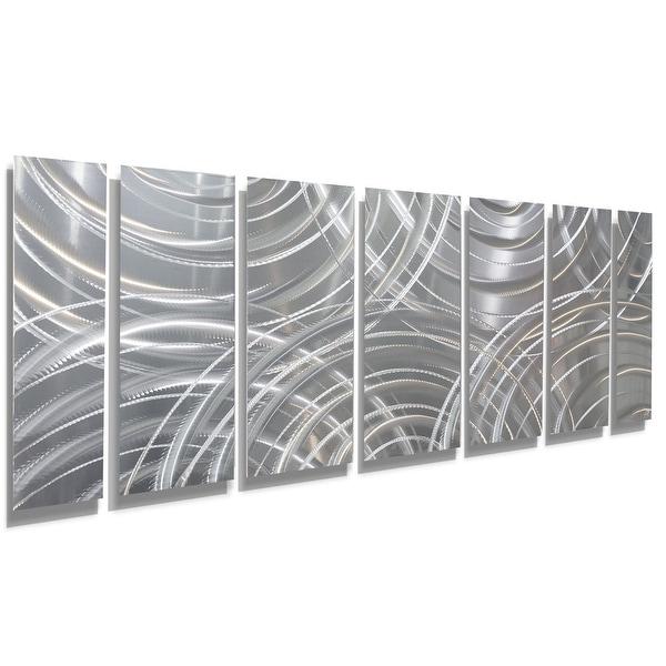 Statements2000 3D Metal Wall Art Panels Abstract Modern Silver Decor Jon Allen