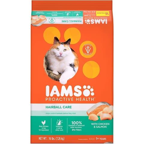 Iams ProActive Health Hairball Care Cat Food 16lb