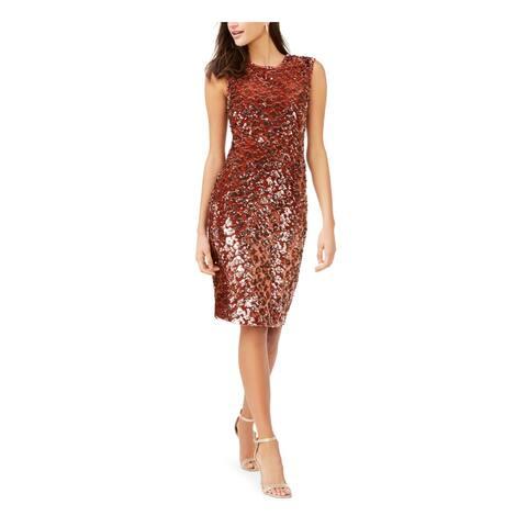 VINCE CAMUTO Orange Sleeveless Knee Length Dress 12
