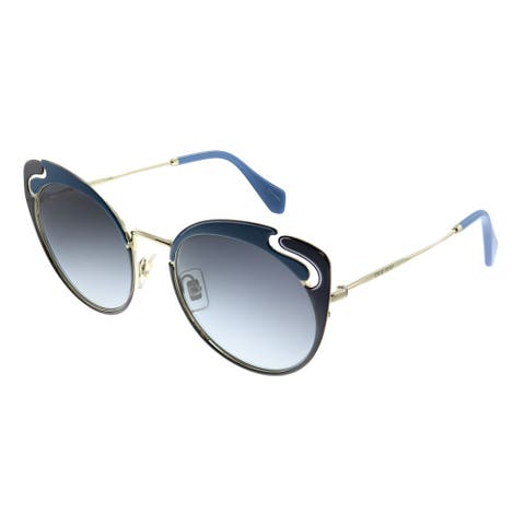 Miu Miu Core Collection MU 57TS C055D1 Womens Pale Gold Blue Brown Frame Grey Gradient Lens Sunglasses