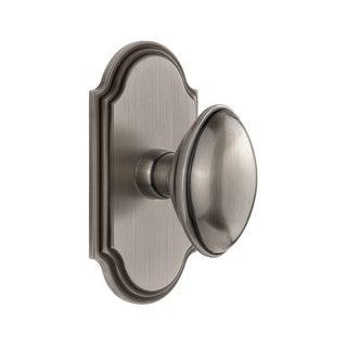 "Grandeur ARCEDN_PSG_238  Arc Solid Brass Passage Door Knob Set with Eden Prairie Knob and 2-3/8"" Backset"