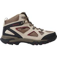 Nevados Men's Spire Waterproof Mid Hiking Boot Taupe/Red/Black Suede