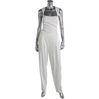 Nicole Miller Womens Felicity Jumpsuit Sleeveless Square Neck