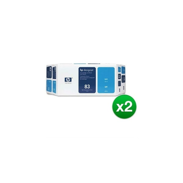 HP 83 Ink Cartridge - Cyan (C5001A) (2-Pack)