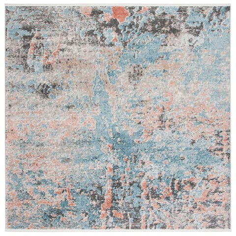Safavieh Shivan Modern & Contemporary Abstract Blue/Ivory Rug