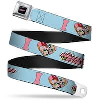 The Powerpuff Girls Black White Pink Full Color I Heart The Powerpuff Girls Seatbelt Belt