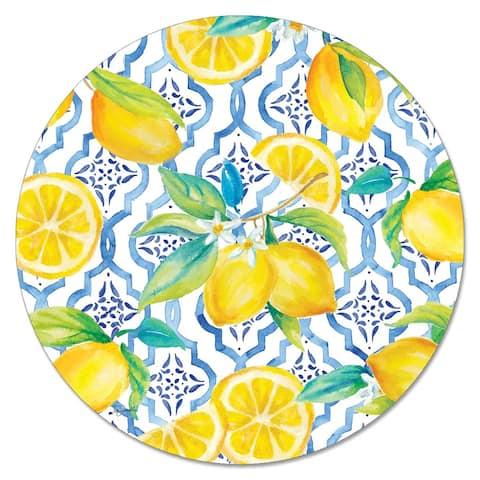 Glass Lazy Susan - Lovely Lemons - 13x.047