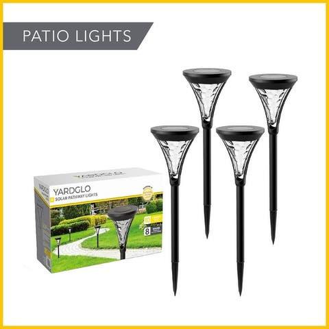YardGlo Patio Solar Battery Aluminum Alloy Waterproof LED Pathway Light