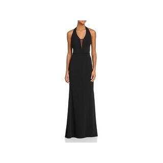 JS Collections Womens Evening Dress Halter Full-Length