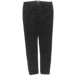 Celebrity Pink Womens Juniors Skinny Jeans Velvet Pattern - 9