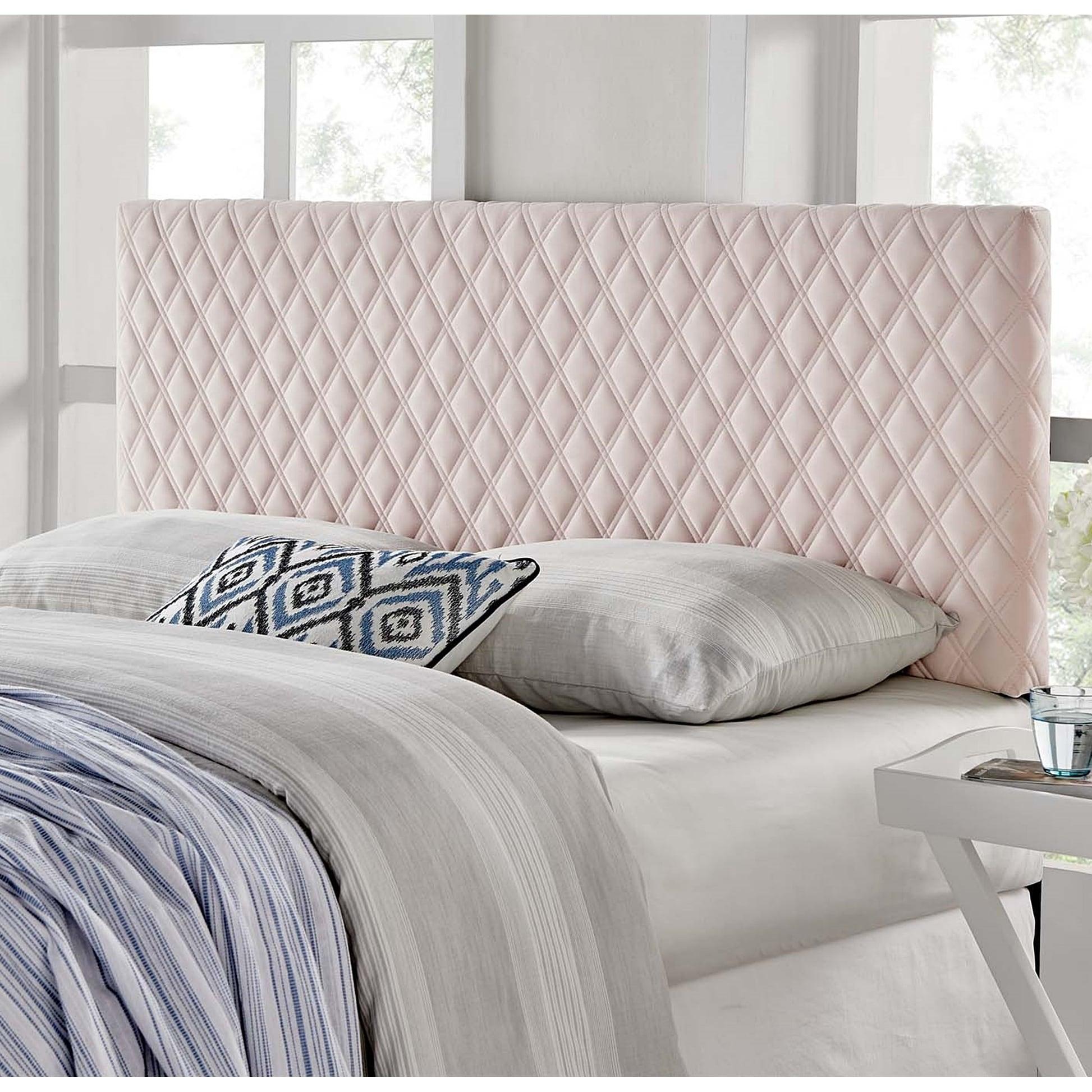 Lemont Diamond Shaped Pink Velvet Upholstered Full Queen Size Headboard Overstock 31647128