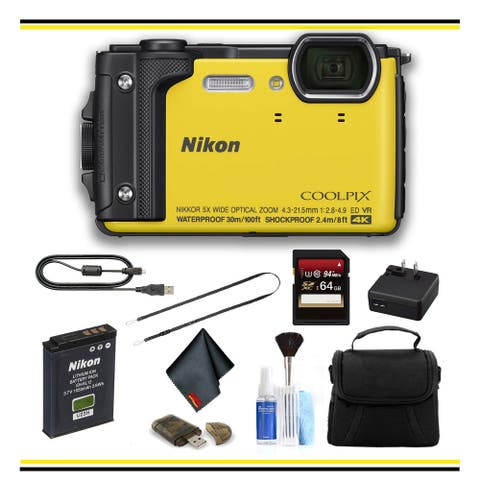 Nikon COOLPIX W300 Digital Camera (Yellow) (26525) Yellow Starter