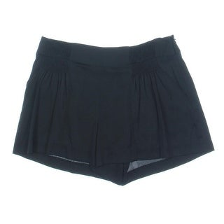 Catherine Malandrino Womens Silk Shirred Dress Shorts - 4