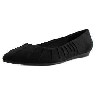 Fergalicious Polly Women Pointed Toe Canvas Black Flats