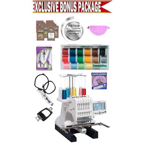 Janome MB-7 Seven-Needle Embroidery Machine w/ Platinum Series Embroidery Package
