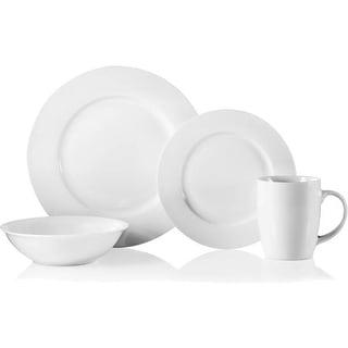 Oneida D137916 Dinnerware Set, Naturally White, 16 Pieces