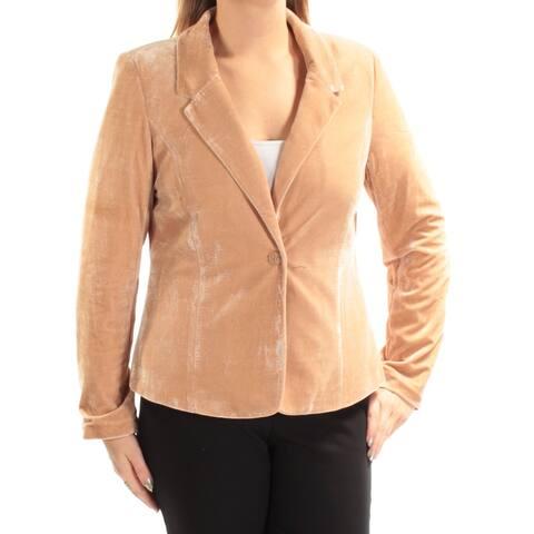 KENSIE Womens Beige Blazer Wear to Work Jacket Size S