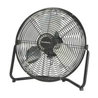 "Homebasix  LF-14 High Velocity Floor Fan, 14"", Black"