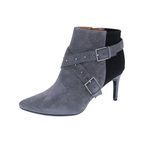 Calvin Klein Womens Jennette Ankle Boots Suede Studded